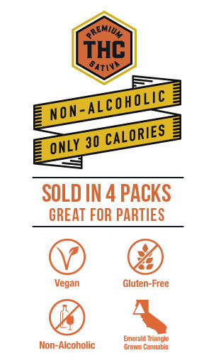 Non-Alcoholic, Only 30 Calories, Sold In Party-Ready 4 Packs, Vegan, Gluten-Free.
